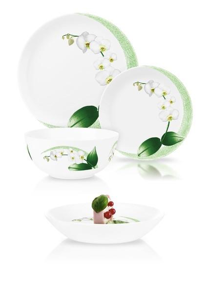 Сервиз Diwali White Orchid из 19 предметов на 6 персон