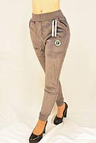 Спортивные женские брюки под манжет на меху - велюр M - XL Брюки зимние Ao longcom, фото 2