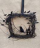 Декоративний вінок чорного кольору до Хеловіну (Хеллоуїну), фото 2