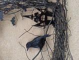 Декоративний вінок чорного кольору до Хеловіну (Хеллоуїну), фото 6
