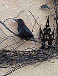 Декоративний вінок чорного кольору до Хеловіну (Хеллоуїну), фото 4