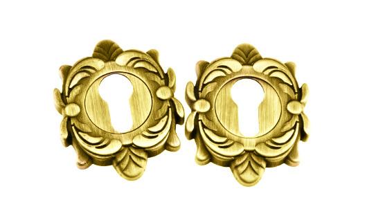 Накладка дверная под цилиндр PZ Fadex Z золото (Италия)