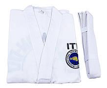 Кимоно тхеквондо ITF, 250г рост 150см, фото 3