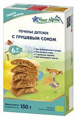 Детское печенье Fleur Alpine органическое с грушёвым соком 150 г (5412916941387)