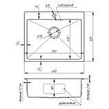 Кухонная мойка из нержавеющей стали Imperial Handmade D6050 2.7/1.0 мм (IMPD6050H10), фото 2