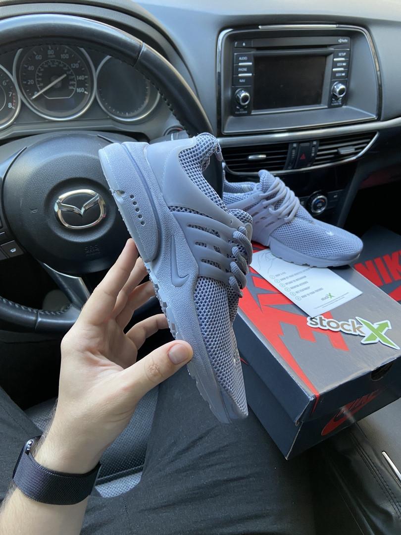 Nike Air Presto Женские осенние серые текстильные кроссовки. Женские кроссовки на шнурках