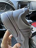Nike Air Presto Женские осенние серые текстильные кроссовки. Женские кроссовки на шнурках, фото 3