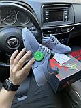 Nike Air Presto Женские осенние серые текстильные кроссовки. Женские кроссовки на шнурках, фото 4