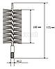 Щітка металева для чищення теплообмінника котлів, труб Savent 40 мм, фото 2