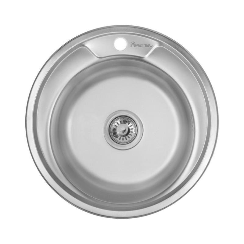 Кухонная мойка из нержавеющей стали Imperial 490-A Polish (IMP490A06POL160)