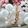 Кольцо Xuping 15226 размер 17 ширина 3 мм вес 1.6 г белые фианиты позолота РО, фото 5