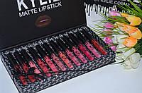 Набор матовых жидких помад Kylie Mattle Liquid Lipstick (12 шт.)