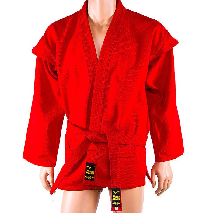 Самбовка красная Mizuno, куртка+шорты 550г, рост 140см