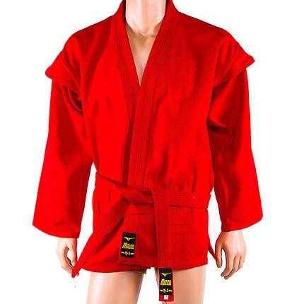 Самбовка красная Mizuno, куртка+шорты 550г, рост 140см, фото 2