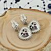 Серьги Xuping с кристаллами Swarovski 83228 размер 24х15 мм цвет монтана вес 5 г позолота Белое золото, фото 4