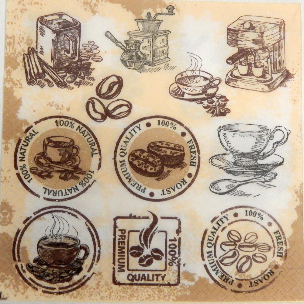 Салфетка для декупажа Кофейная тема