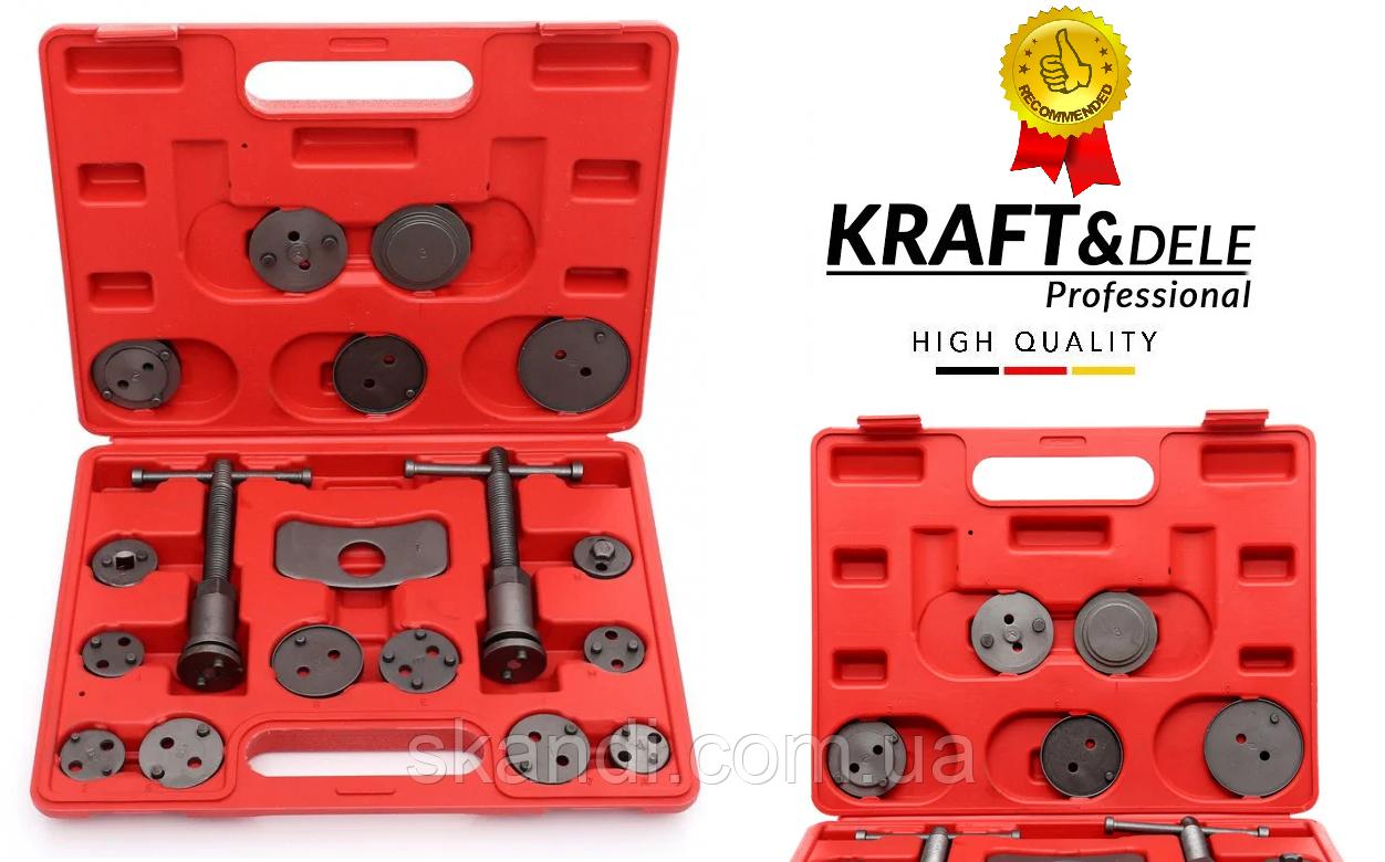 Комплект для замены тормозных колодок Kraft&Dele(Оригинал) 18элементов