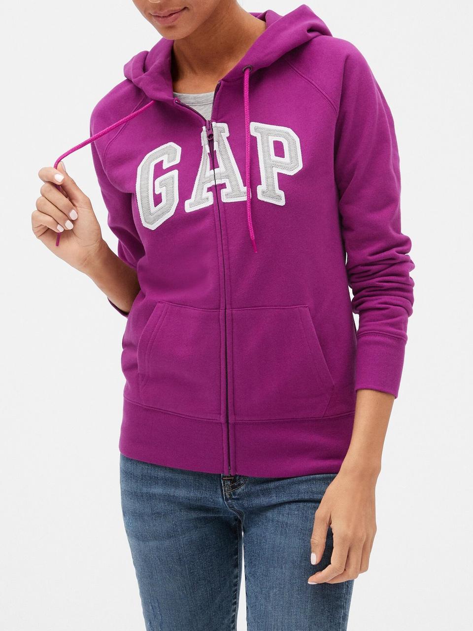 Толстовка жіноча худі GAP art753936 кофта (Фіолетовий, розмір XS)