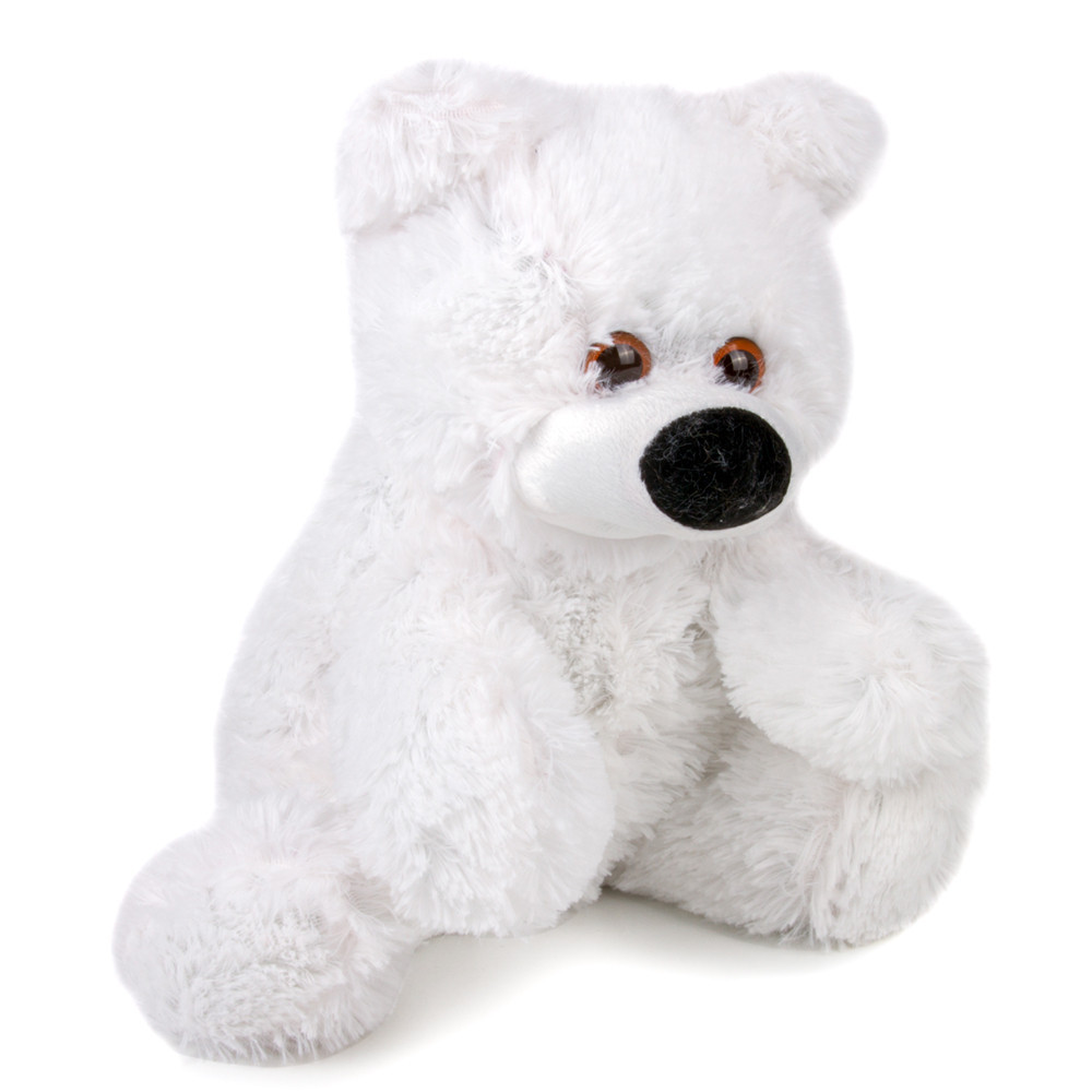 Мягкая игрушка - медведь сидячий Бублик 55 см белый