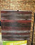 Декоративная 3D панель стеновая самоклеющаяся под БАМБУК КРАСНО-СЕРЫЙ 700х700х8.5мм (в упаковке 10 шт), фото 5