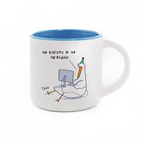 Чашка с Гусем Празднік. Голубая #I/F
