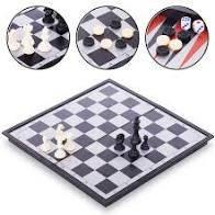 Гра настільна 3 в 1 (шашки, шахмати, нарди), Арт.9818, 35см*34см