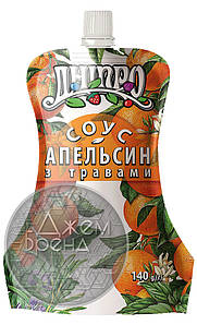 Соус ТМ Дніпро Апельсин с травами 140 г.