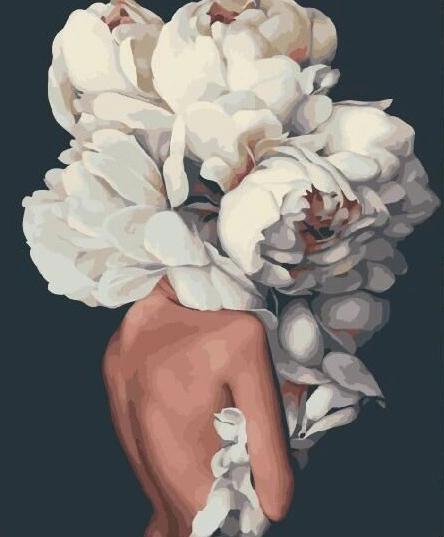 Картина по номерам - Женственные пионы Brushme 40*50 см. (GX29255)