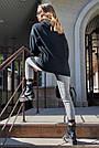 Толстовка женская с капюшоном чёрная на флисе, фото 7