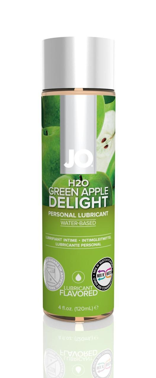 Смазка на водной основе System JO H2O - Green Apple (120 мл) без сахара, растительный глицерин