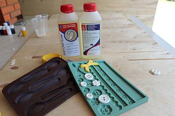 Двокомпонентний поліуретановий пластик Изикаст Слоу EasyCast Slow (0,5 кг+0,55 кг) білий
