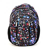 Рюкзак школьный ортопедический для девочки Dolly 591 Черный, фото 1