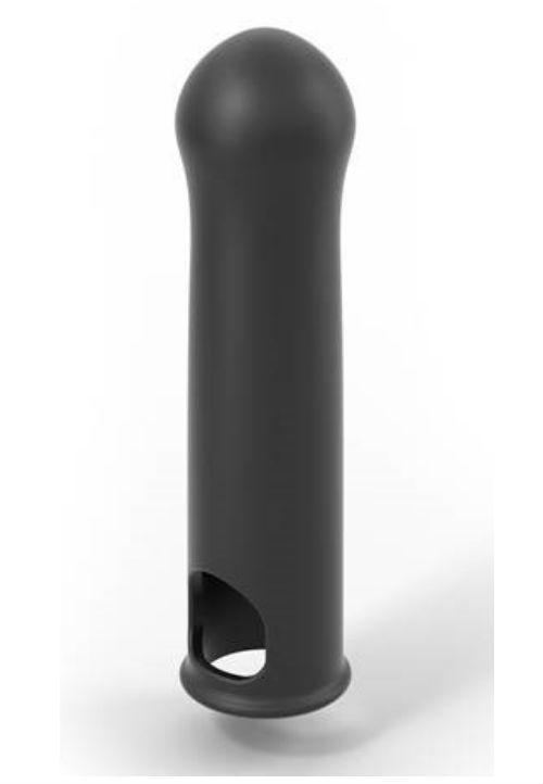 Удлиняющая насадка на член Dorcel LIQUID-SOFT XTEND (до +3,8см), с кольцом для мошонки