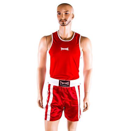 Форма для бокса красная Twins р. XS, фото 2