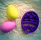 Висічка для пряників із зображенням пасхального яйця, фото 2