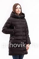 Черный пуховик с капюшоном Snow owl 17A7419