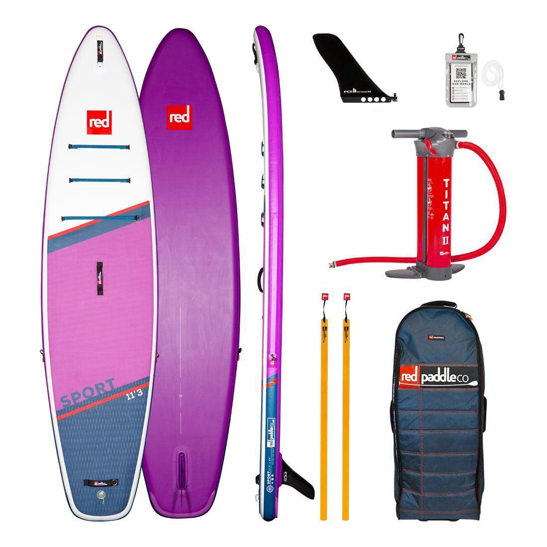 "Сапборд Red Paddle Co Sport SE 11'3"" x 32"" 2021 - надувная доска для САП серфинга, sup board"