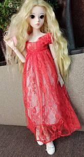 Шарнирная кукла BJD рост 60 см ,1 /3, блондинка, одежда и обувь в подарок