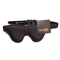 Маска на глаза Pornhub Faux Leather Mask экокожа, черная, очень комфортная