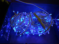 Гирлянда УЛИЧНАЯ нить(линия) 100 LED 5mm,10 метр,на Черном проводе, синяя