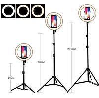 Кольцевая LED лампа светодиодная 33 см c пультом AL-33 светодиодное кольцо для блогеров с штативом
