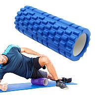 Массажный ролик (роллер) 30x10 см для йоги, фитнеса, пилатеса / Валик для массажа спины, ног, рук