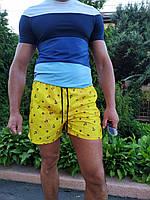 Летние яркие пляжные шорты. Морская тематика. Размеры: S L XXL