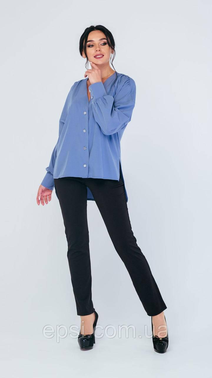 Блузка Alpama SO-78227-CYP Голубой 50