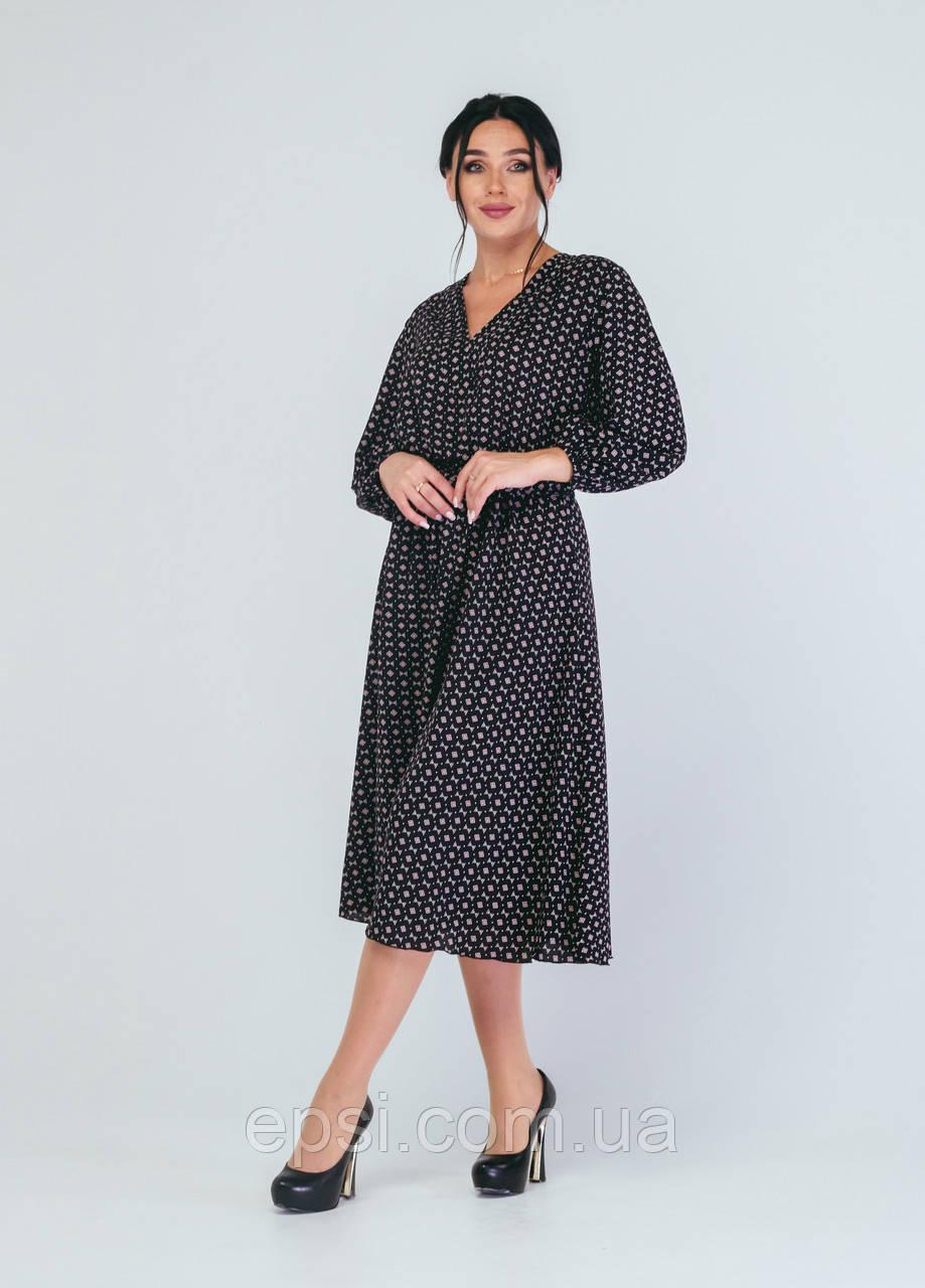 Платье Alpama SO-78228-BLK Черный 50