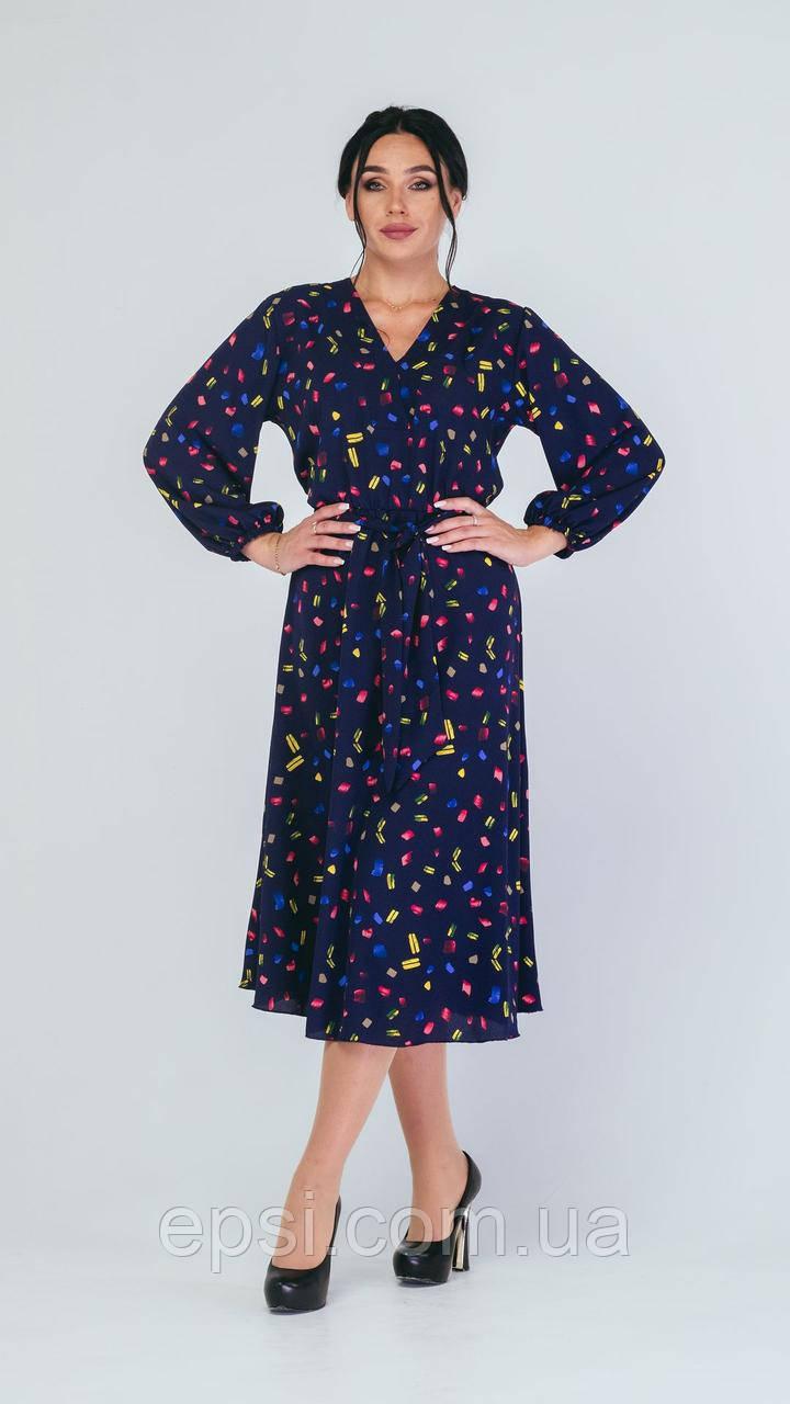 Платье Alpama SO-78228-BLU Синий 50