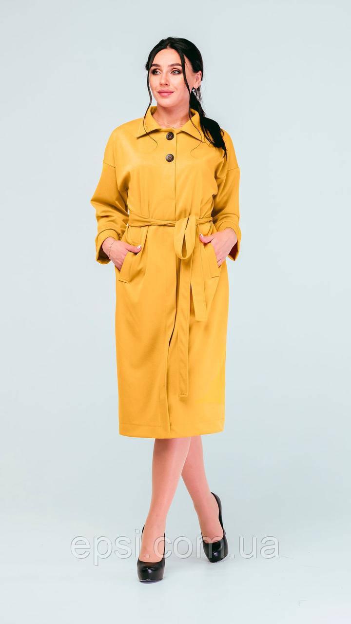 Платье Alpama SO-78237-MSD Горчица 52