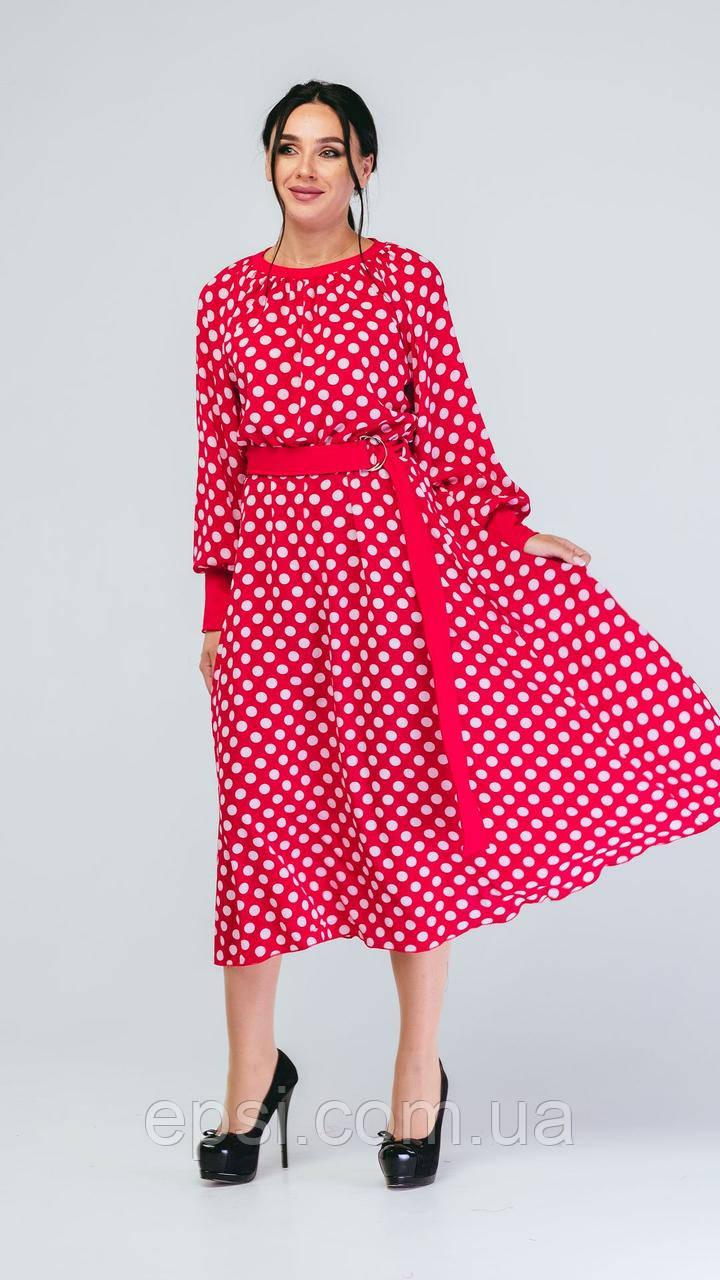 Платье Alpama SO-78238-RED Красный 50