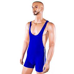 Трико борцовское синее, рост 180