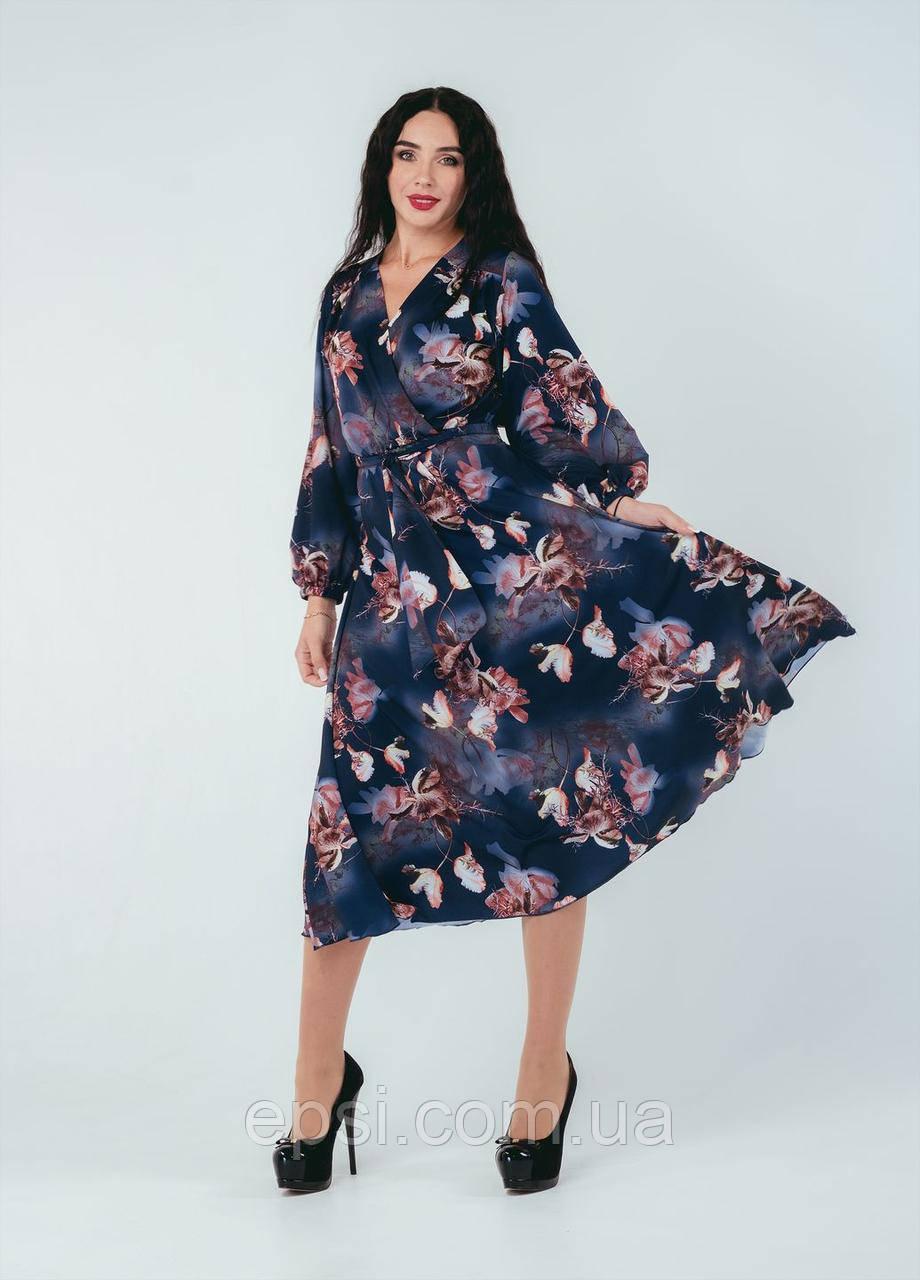 Платье Alpama SO-78248-BLU Синий 48